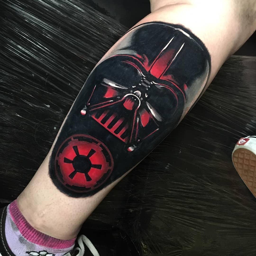 Darth Vader mask tattoo