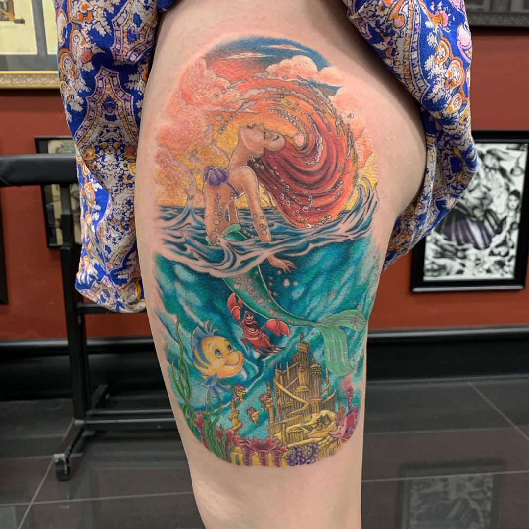 Image result for mermaid ocean tattoo