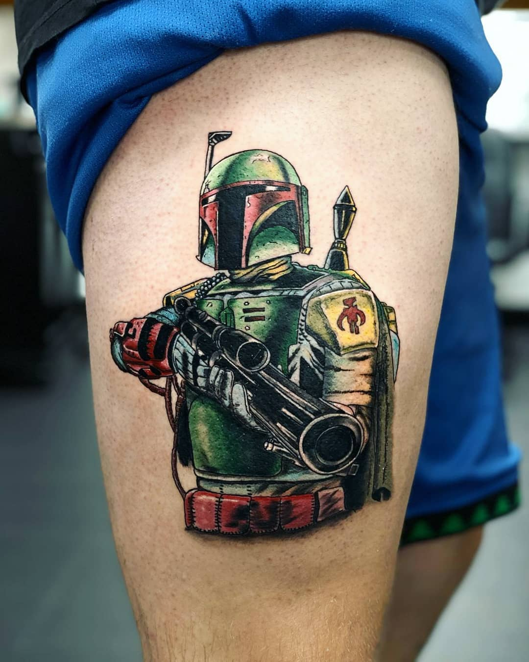 Boba Fett big gun tattoo