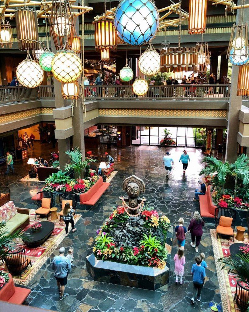 Lobby at Polynesian Disney Resort