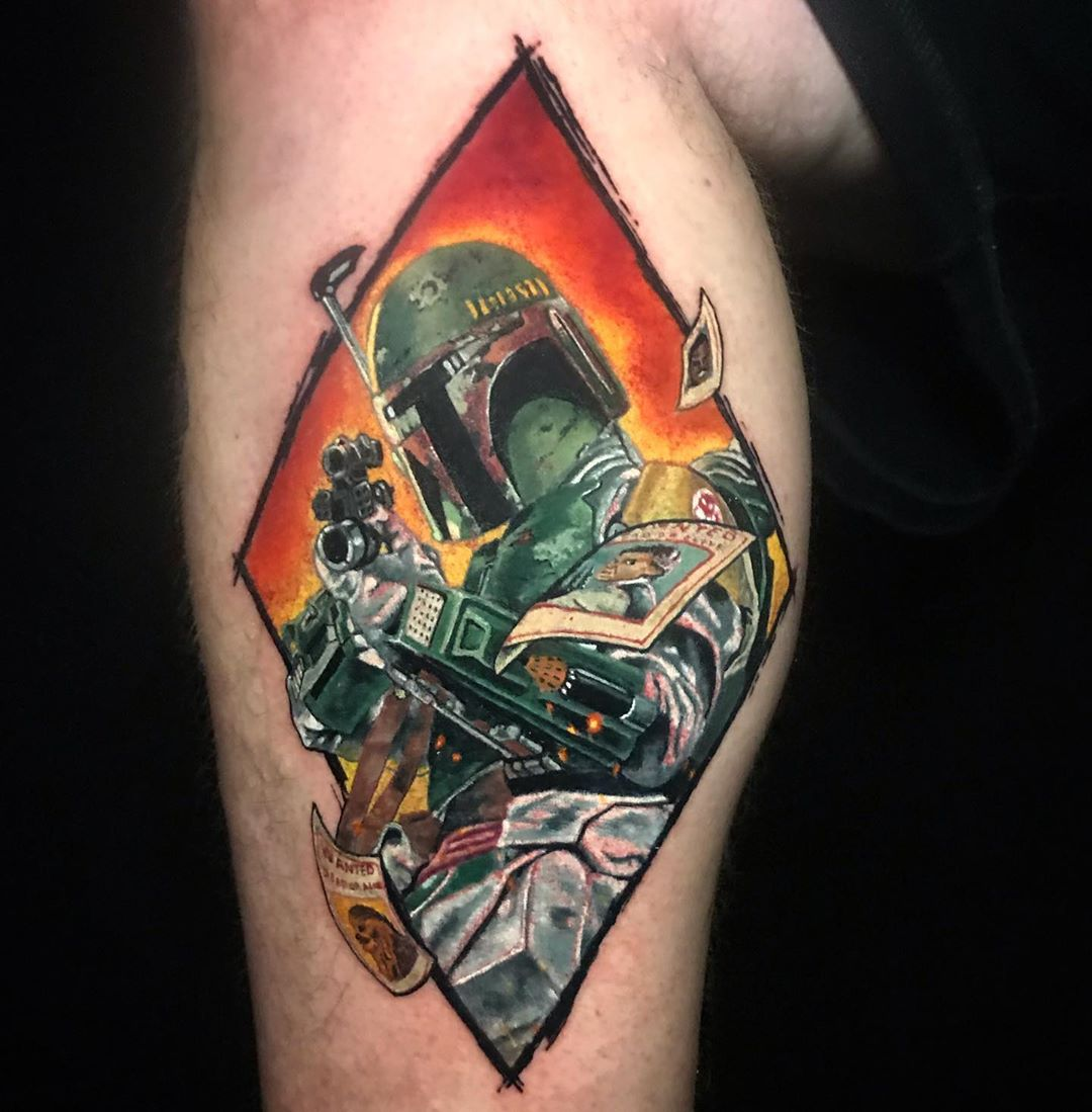 diamond Boba Fett tattoo