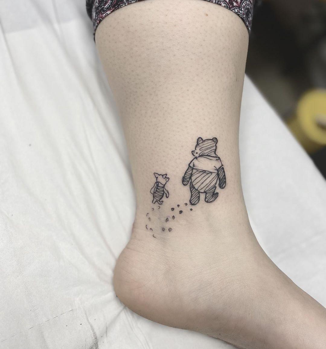 UPDATED: 40 Uplifting Winnie the Pooh Tattoos (April 2020)