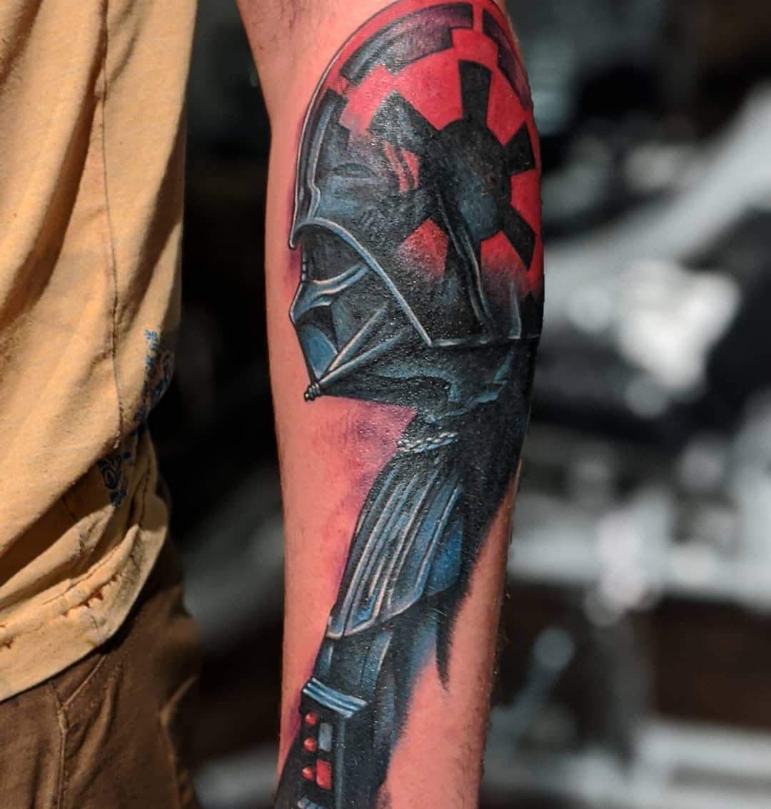 Darth Vader & the Galactic Empire arm tattoo
