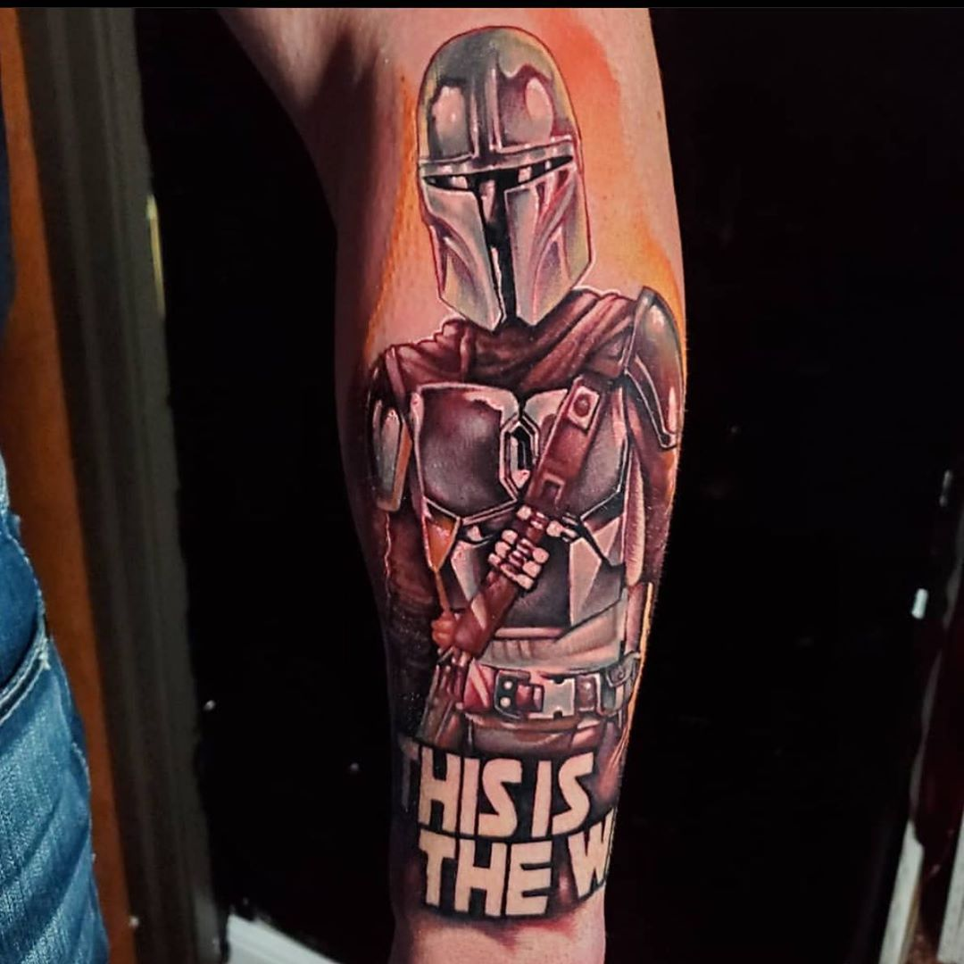 """this is the way"" Mandalorian tattoo"