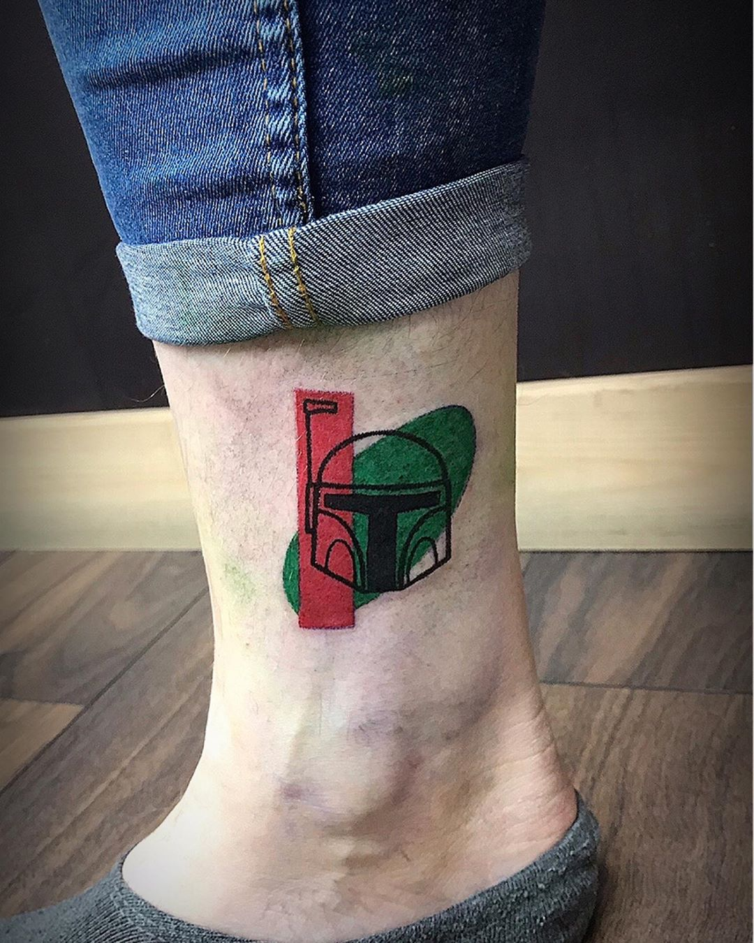 abstract Boba Fett tattoo