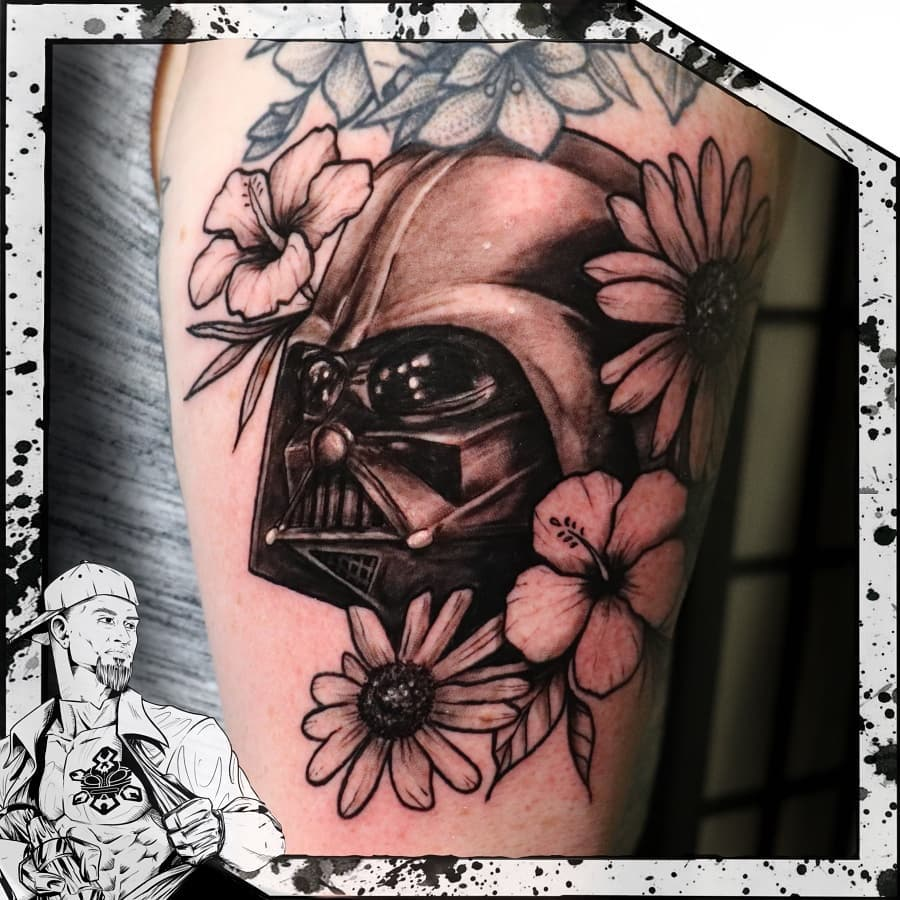 Darth Vader Rest in Peace Tattoo