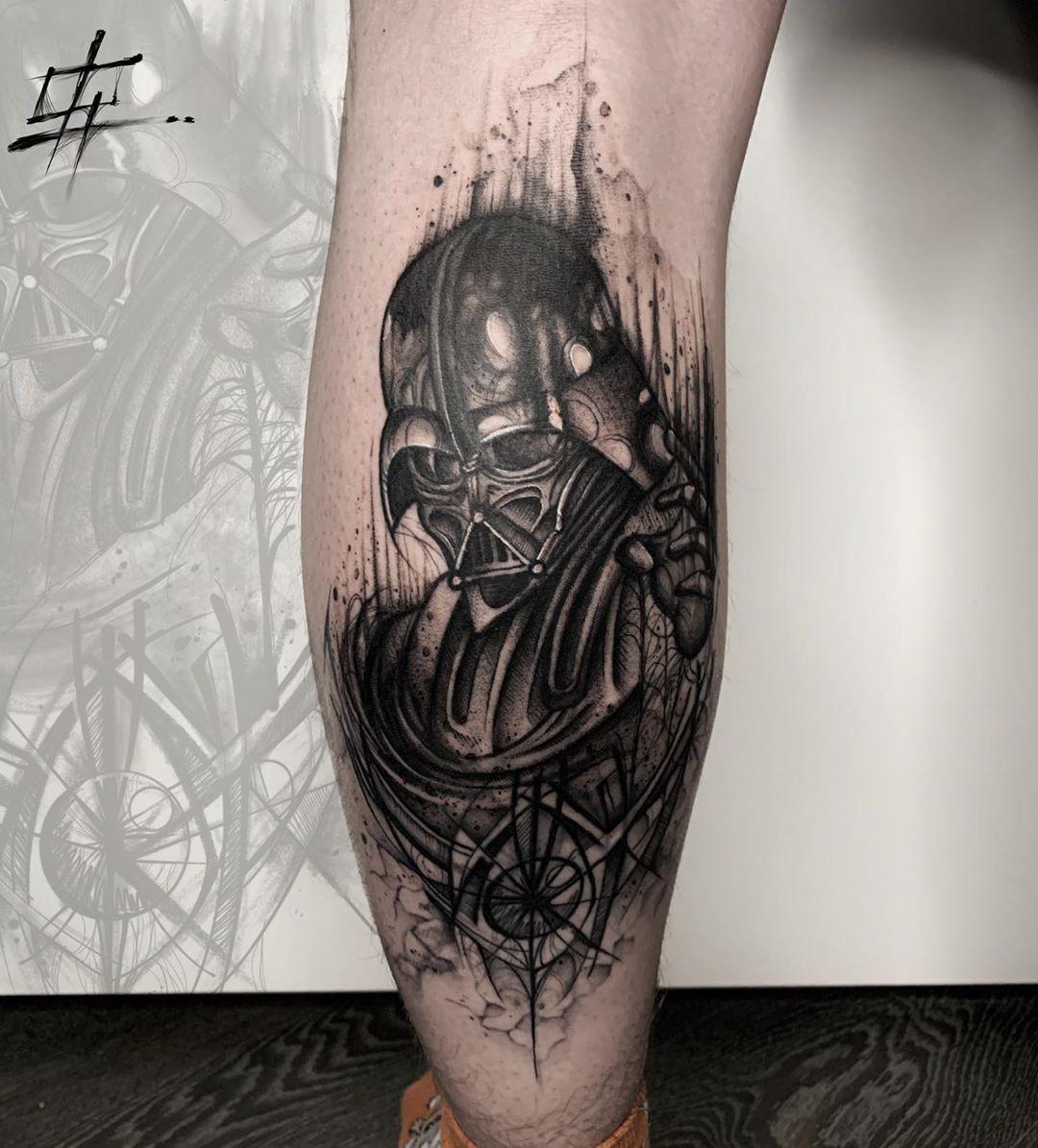 Darth Vader sketch tattoo