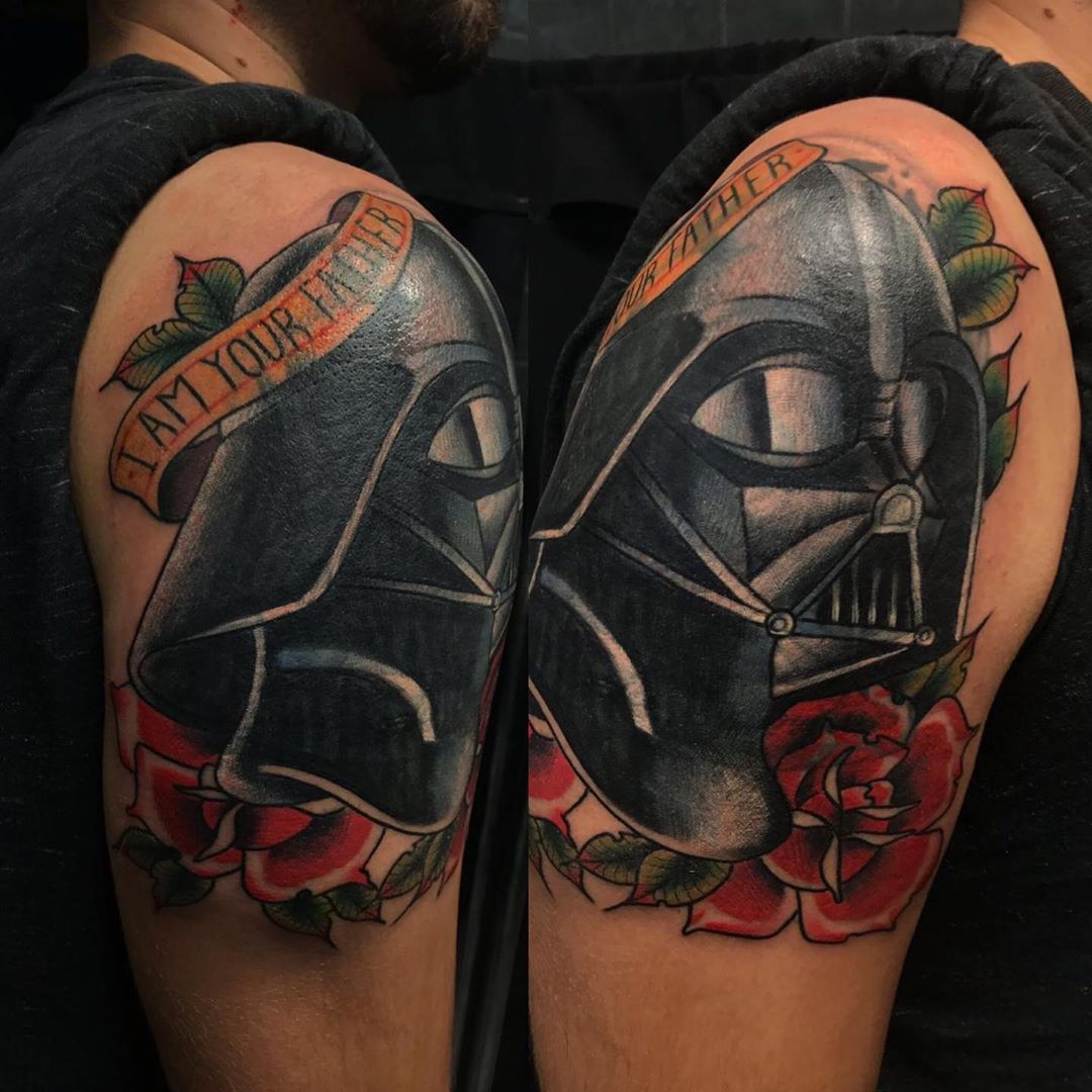 "Darth Vader ""I am your Father"" tattoo"