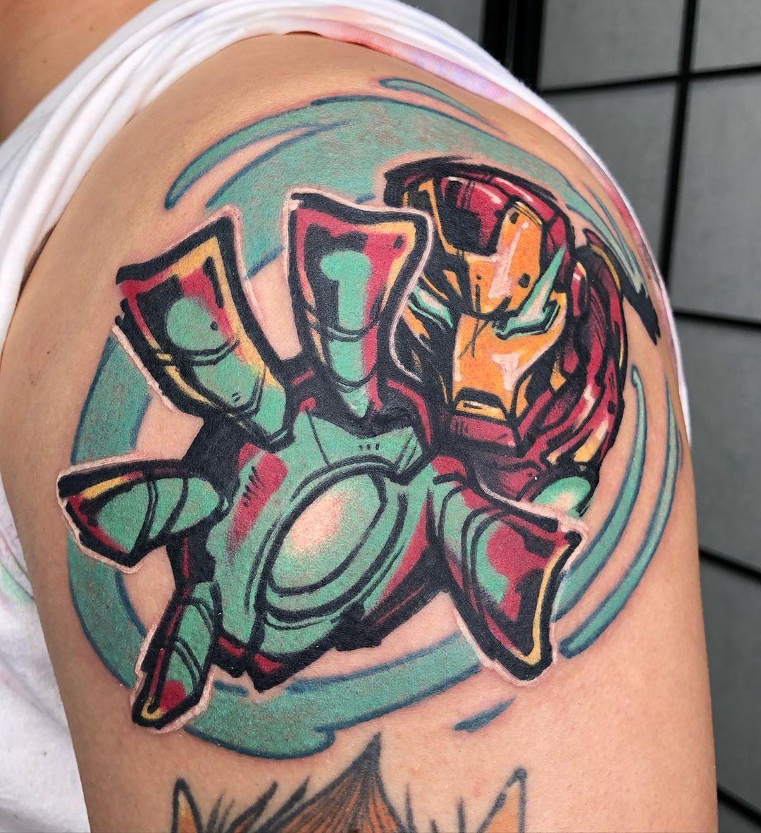 Bold Iron Man Tattoos