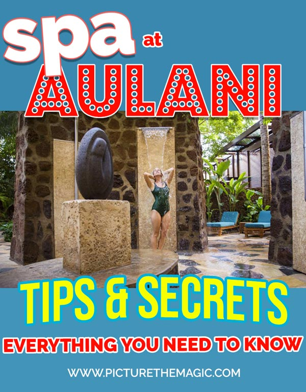 Everything you need to know about Laniwai, the luxury high-end Aulani spa at the famous Disney resort in Hawaii. #aulani #laniwai #hawaii