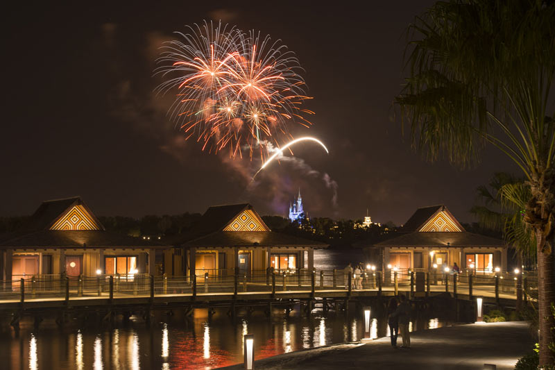 Fireworks over Disney's Polynesian Village Resort