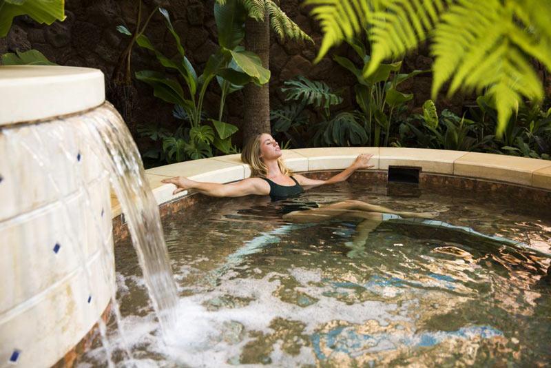 Kula Wai soaking pools at Aulani spa