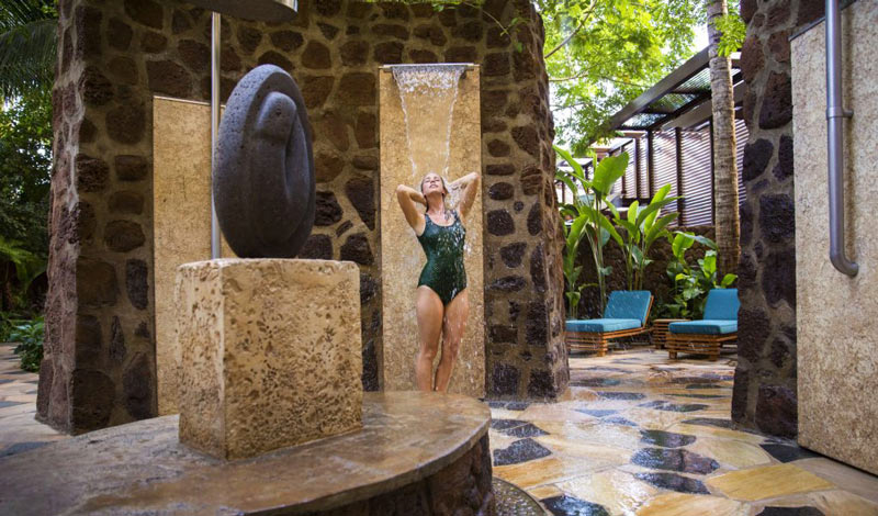 Laniwai, the Aulani Spa, Kula Wai outdoor hydrotherapy garden