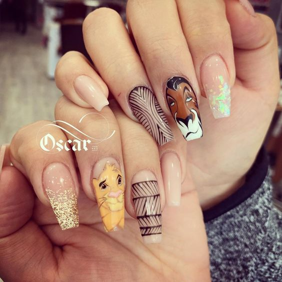Amazing The Lion King Nails Designs!