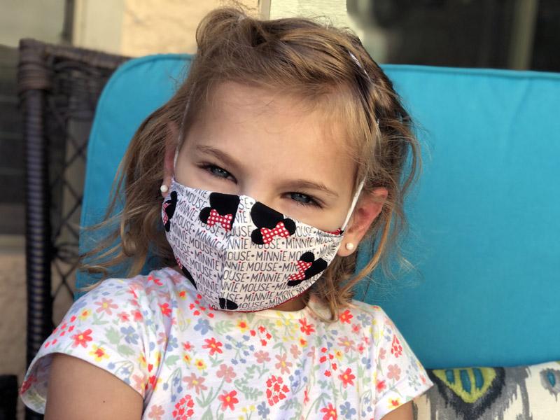 Disney DIY Face Mask on little girl