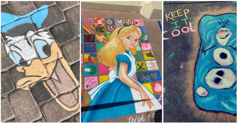 Updated 50 Disney Chalk Art Projects September 2020