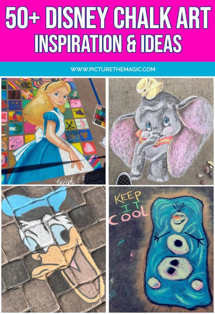 Updated 50 Disney Chalk Art Projects November 2020