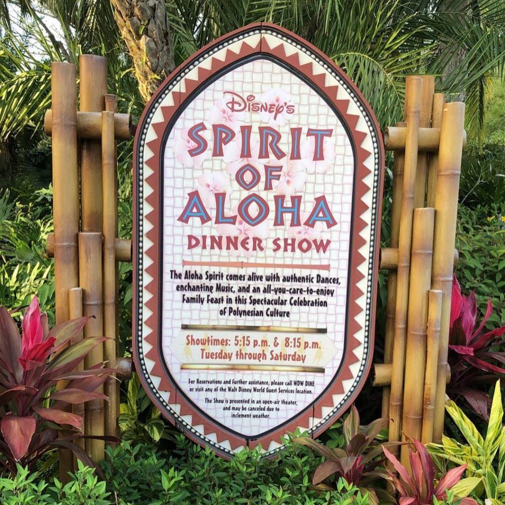 Spirit of Aloha sign at Polynesian Village