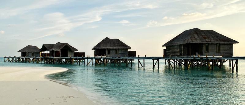 Overwater villas at Conrad Maldives
