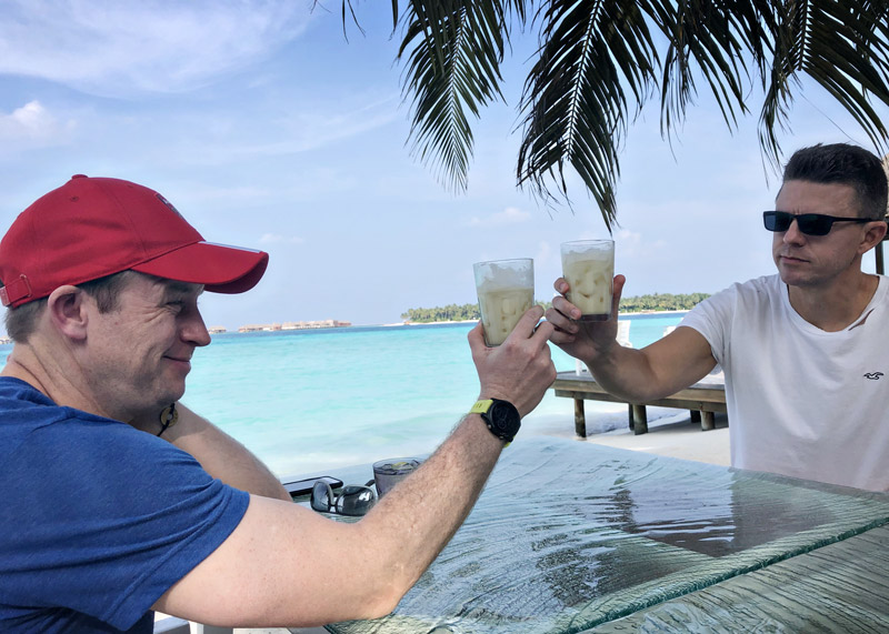 Happy Hour at Vilu restaurant at Conrad Maldives