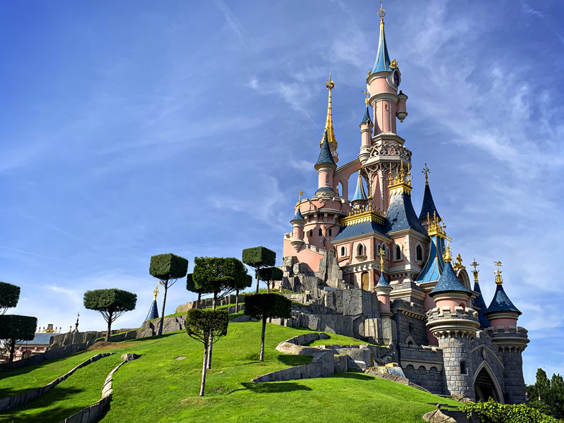 Gorgeous Sleeping Beauty's Castle at Disneyland Paris