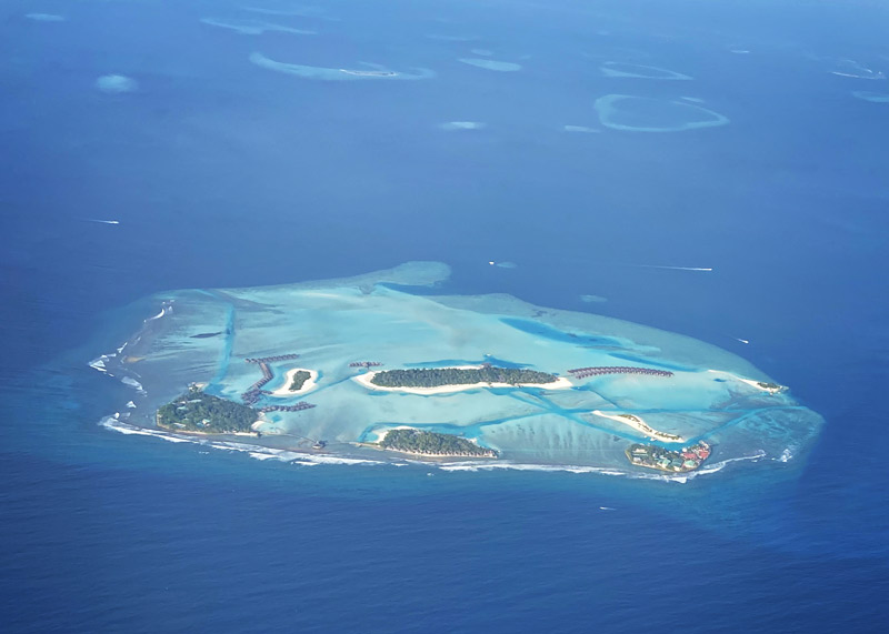 Maldives atoll from the air