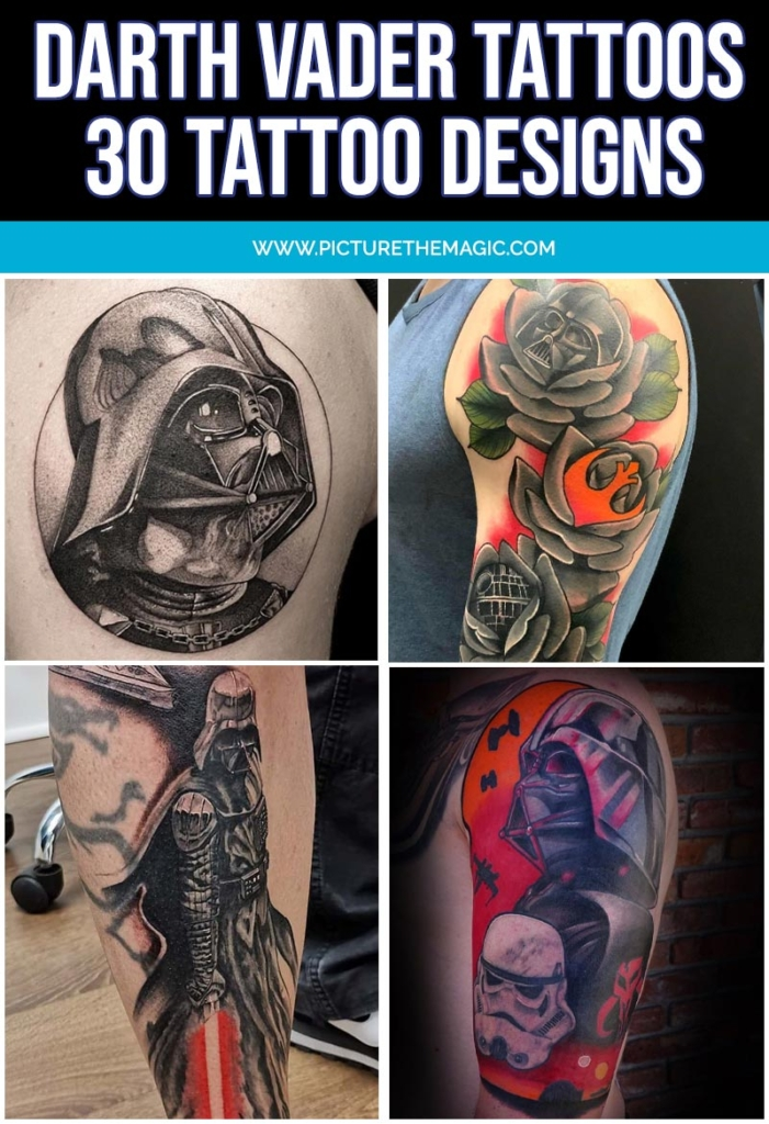 Darth Vader Tattoos Four Designs