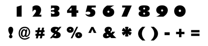numbers and symbols from toy story font