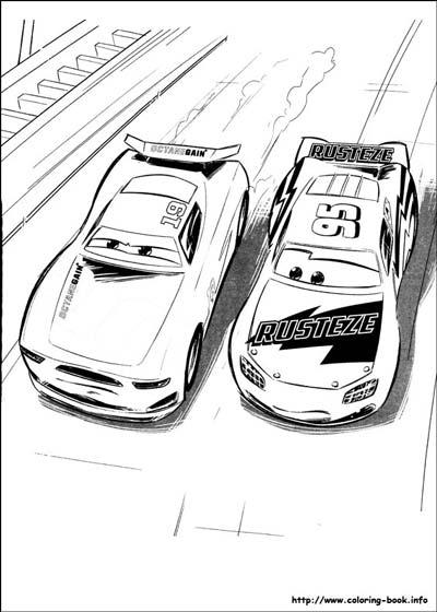Lightning McQueen in a race