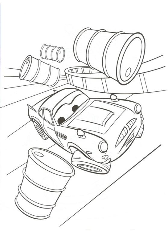 finn mcmissile driving through oil barrels