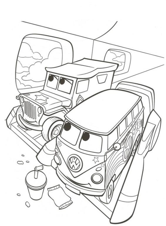 van and jeep on plane