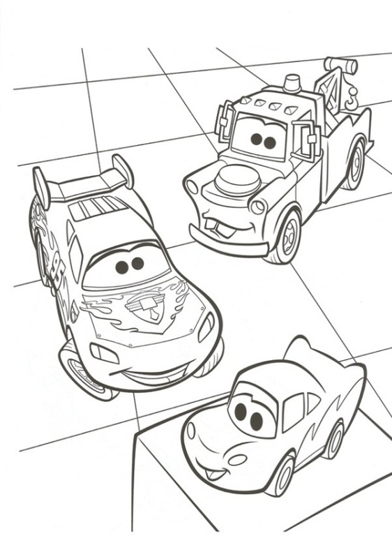Lightning and mater see a car toy