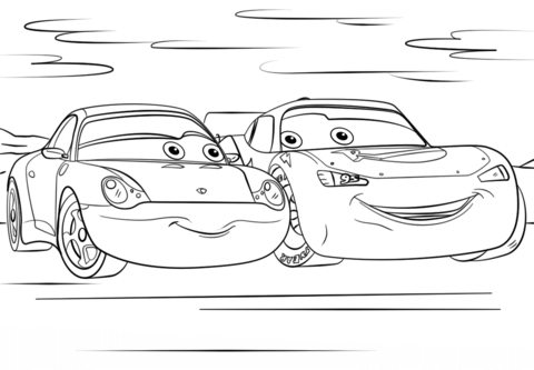 Lightning and sally in cars 3