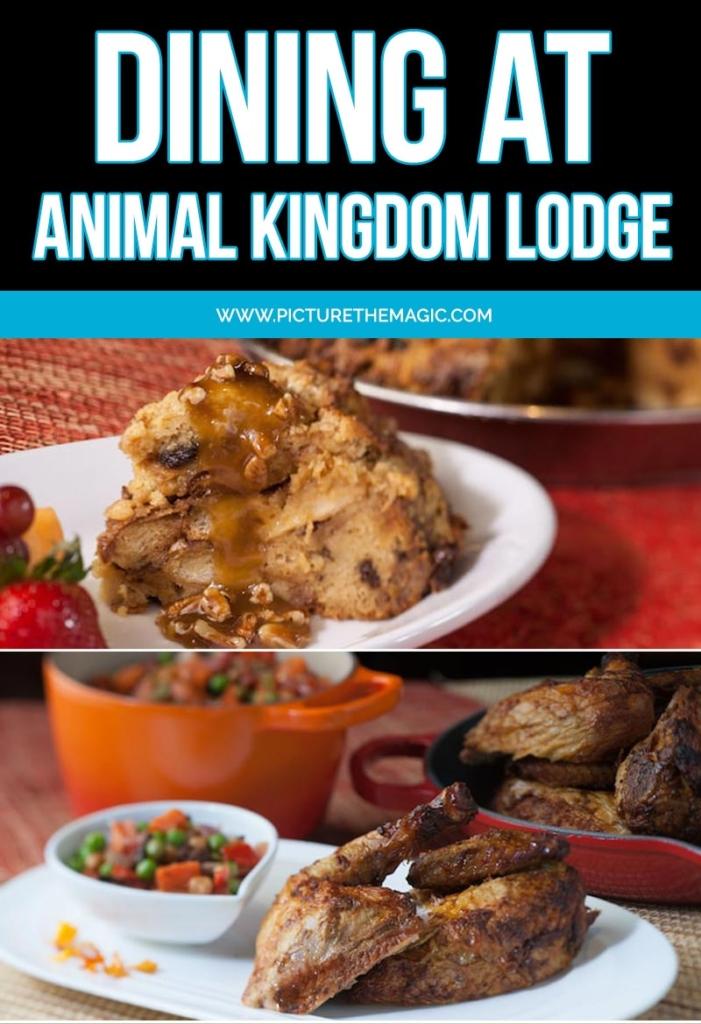 Pinterest image for Dining at Animal Kingdom Lodge at Walt Disney World