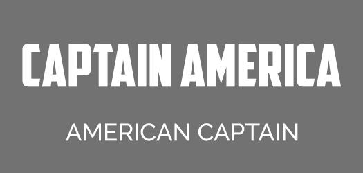 Captain America font