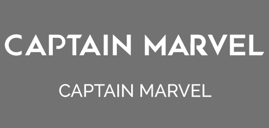Captain Marvel Font