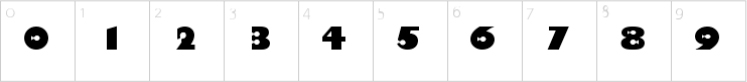 finding nemo font numbers