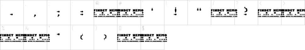 finding nemo symbols font
