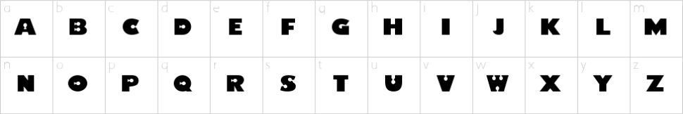finding nemo font lowercase