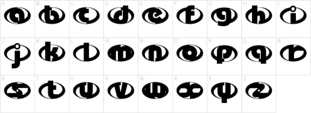 incredibles letters lowercased