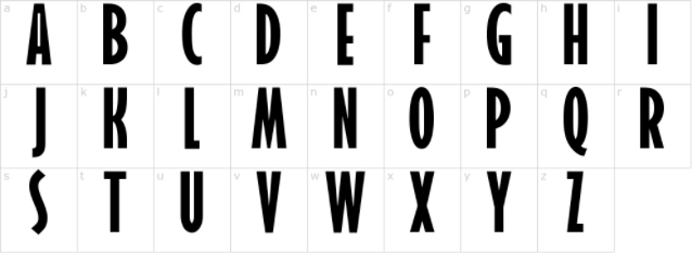 incredibles letters capital