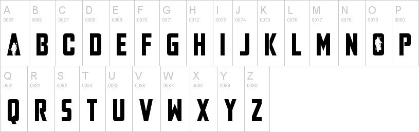 Mandalorian uppercase font