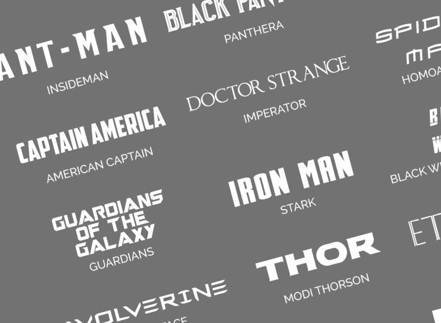 many Marvel fonts
