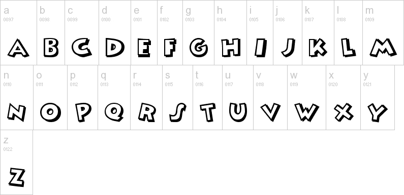mickey mouse lowercase font