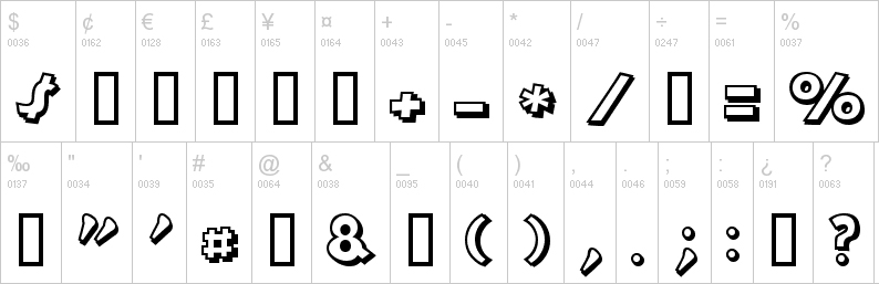 mickey mouse symbols font