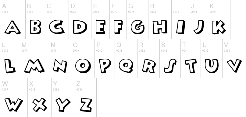 mickey mouse uppercase font