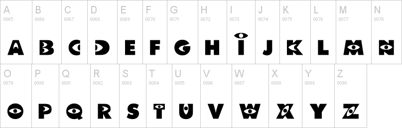 monsters inc font uppercase