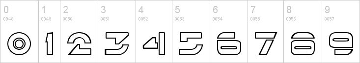 tron numbers font