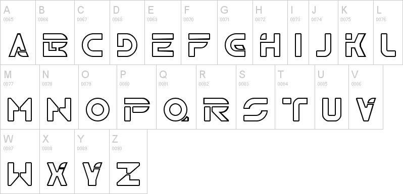 tron uppercase font
