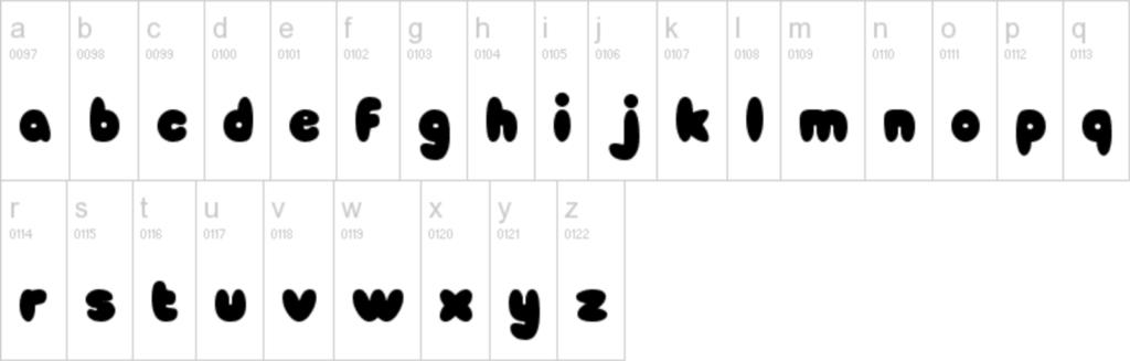 tsum tsum font lowercase